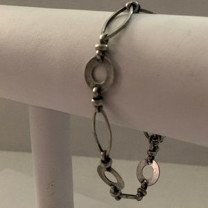 Cookie Lee Silver Tone Toggle Bracelet
